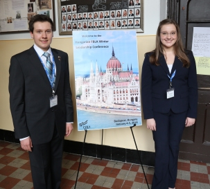 Edwin and Evelyn Bodoni -the Hungarian FBLA Winter Leadership Conference, Budapest, Hungary
